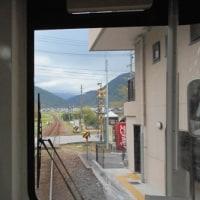 明智鉄道・阿木駅(チャリティ展お知らせも)