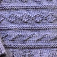 青いセーター