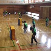 今日は、赤名小学校の体育館で「いたっボールをしてみよう」がありました!