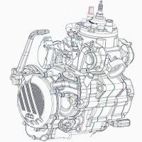 2サイクル燃料噴射エンジンが登場する。