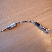 【2.5mm 4極→3.5mm3極】銀メッキOFC アンバランス変換ケーブル