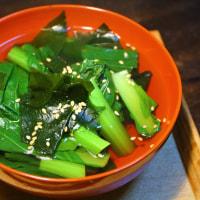 若芽と青菜の煮びたし