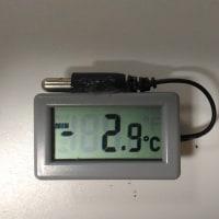 最低気温は -2.9℃
