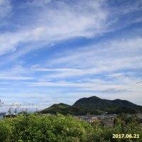 青空に白い雲 2017.06.21