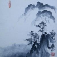 四国歩き遍路(水墨画)