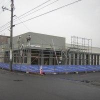 〇ナカPに工事中の建物