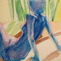 岩田壽秋:逆光の裸婦