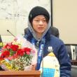 平野歩夢選手と握手しました 2014.3.13(木)曇