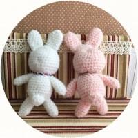 フレンドリーフレックルズ★ウサギの編みぐるみ