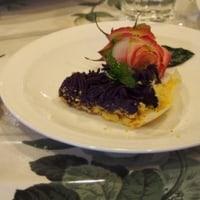 肉まんと紅芋のタルト