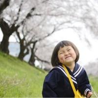 3歳  初登園〜桜とともに