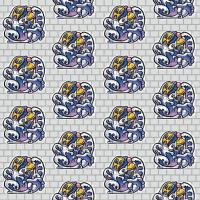 「パターン」グラフィティ(テキスタイル)