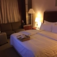 初日のホテル