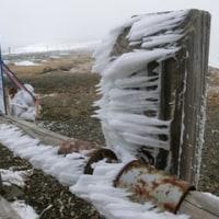凍っていた蔵王のお釜