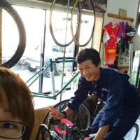 天気がイマイチなら自転車屋さんへ行こう(゚∇^*)
