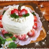 明日は'女正月'だそうです!! ~いちごのショートケーキ♥~