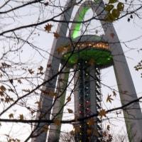 138タワーパークの夕暮れ