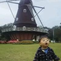 10月22日/アンデルセン公園の風車前で遊ぶ