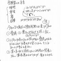 面接の基準(代田先生の記録)