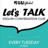 【English Conversation Club】1月10日(火)、開催!