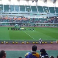 サッカー天皇杯準決勝、名古屋グランパス対清水エスパルス戦。