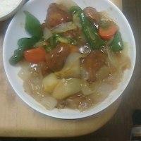 昨日は「酢豚」を食べました!!