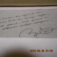 オバマ大統領の署名Obama's signature