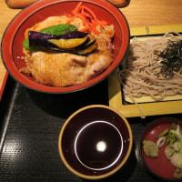 蕎麦と豚丼