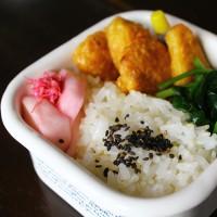 笹蒲鉾のカレーピカタ・たけのこ姫皮スープ・・・おっと弁