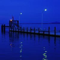 夕暮れのびわ湖