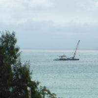 海上行動は中止だったが、コンクリートブロックの投下は進む。