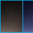 窓から星空