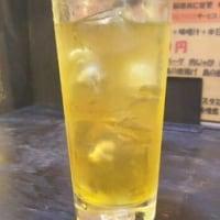 緑茶ハイ 100円 3杯目 まんぷく食堂習志野大久保
