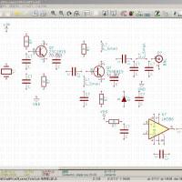 KiCadの回路図で部品を置いてみる。