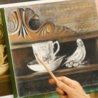 アートベース「」語りかける静物」~小鳥とモチーフ~レポート2