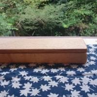 無垢の木製箸箱を作りました
