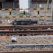 2017年7月25日,今朝の中央線 立川駅 東京よりシザースクロス