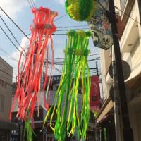 七夕飾りは通りが賑やかななります