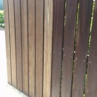 木の塀のメンテナンス
