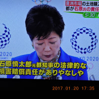 1/21 都知事の判断 石原元都知事の責任追及は当然の話