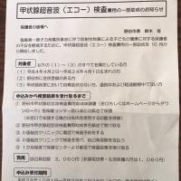 野田市も10月から甲状腺エコー検査の受け付け開始。対象者に案内文書を渡しています。