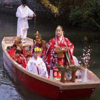 柳川雛祭りさげもんめぐり 水上パレード 神主と巫女 その12 2017・3・19