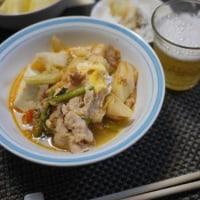 キムチ鍋を豆乳キムチ鍋にして雑炊にして3日ごはん