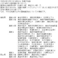 鳥取大地震 2016.10.21