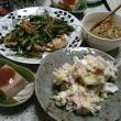 ホタテと空心菜の中華炒め