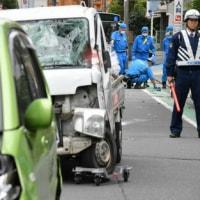 <横浜・小学生列に車>「横転車の下敷き、血だらけに…」