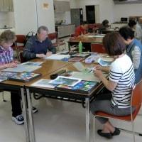 「水彩色鉛筆教室」5月前半は「宝塚ガーデンフィールズのバラ」