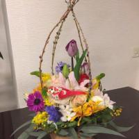 3月、静岡講師会、イースターのアレンジ。
