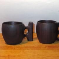黒檀のマグカップ作り