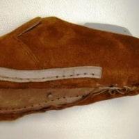 初めて革靴の自作  中底の縫製